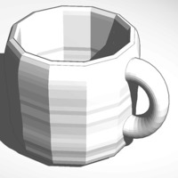Small mug made with smoothie-3d-modeling and tinkercad 3D Printing 13674