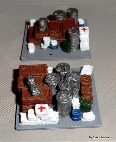 Barricades & decorations post apo SET1 - Wargame scenery 3D Print 136753
