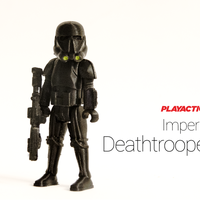Small Death Trooper 3D Printing 136761