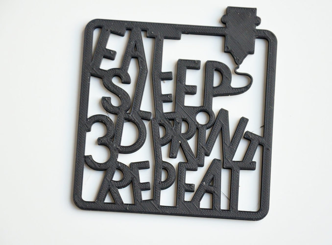 eat sleep 3dPrint repaeat  3D Print 136835