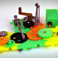 Small Crazy Cogs - Gear Play Set 3D Printing 136845