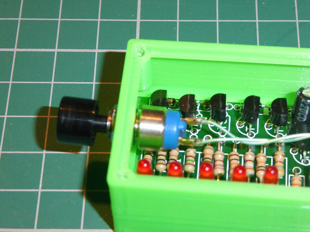 3d printed case for velleman pocket vu meter kit mk115 by papabravo rh pinshape com VU Meter Clip Art LED Audio VU Meter