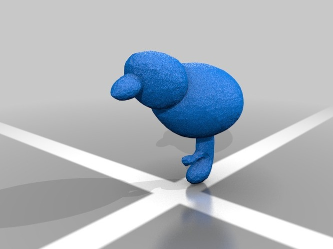 weird blue bird thin walls on small foot but it's Irrelavent thi 3D Print 13691