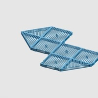 Small Plenum modules for Jaubert's Method for living reef aquariums 3D Printing 136910