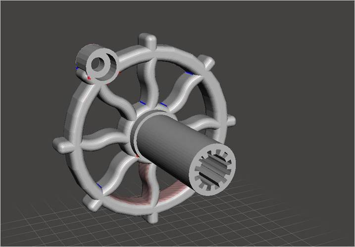 RV Trailer Window Crank Steampunk 3D Print 136926