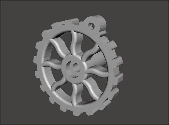 RV Trailer Window Crank Steampunk 3D Print 136928