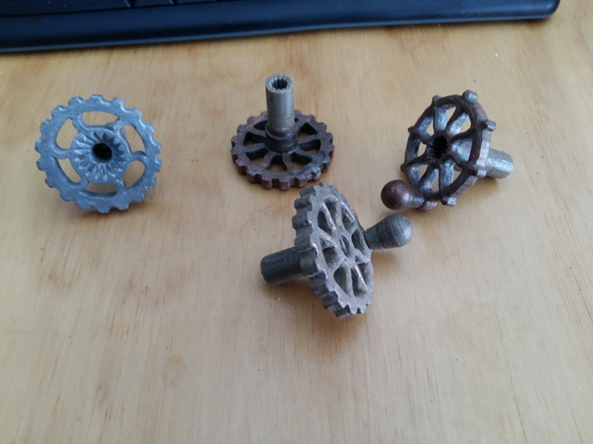 RV Trailer Window Crank Steampunk 3D Print 136930