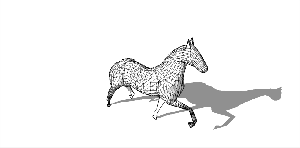 Faceted Horse 3D Print 136980