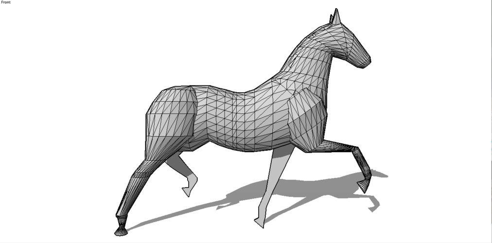 Faceted Horse 3D Print 136983