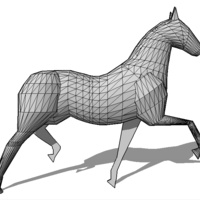 Small Faceted Horse 3D Printing 136983