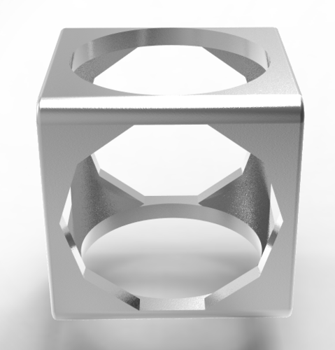 3 in 1 cubic men's ring  3D Print 137001