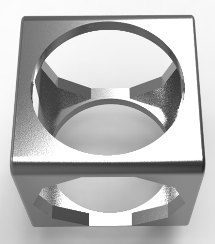 3 in 1 cubic men's ring  3D Print 137002