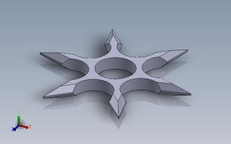 3d printed shuriken fidget spinner by gilson fabrication pinshape. Black Bedroom Furniture Sets. Home Design Ideas