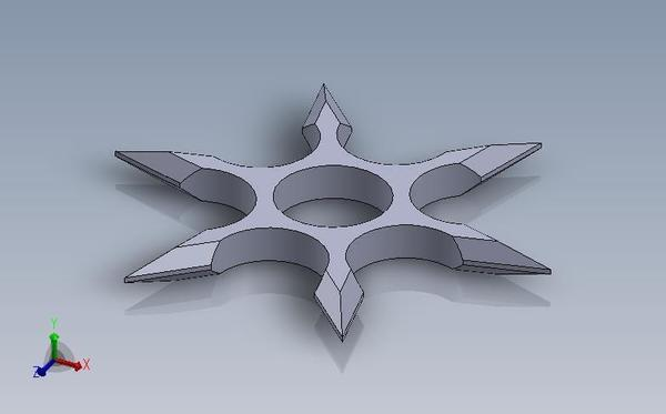 Medium Shuriken Fidget Spinner 3D Printing 137071