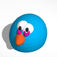 Small angry bird blue 3D Printing 13708