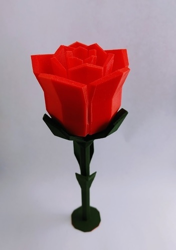 Low poly Rose 3D Print 137095