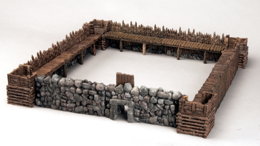"Modular Outdoor Ruins for ""Stronghold on the Borderlands"" 3D Print 137103"