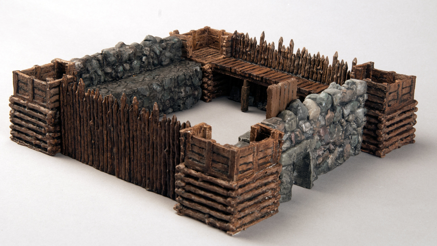 "Modular Outdoor Ruins for ""Stronghold on the Borderlands"" 3D Print 137104"