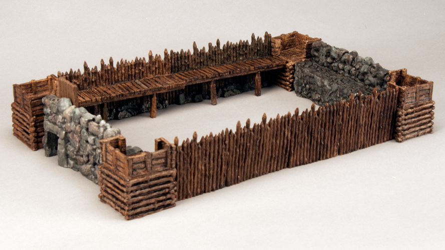 "Modular Outdoor Ruins for ""Stronghold on the Borderlands"" 3D Print 137107"