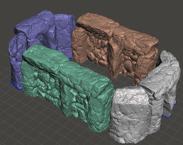 "Modular Outdoor Ruins for ""Stronghold on the Borderlands"" 3D Print 137110"