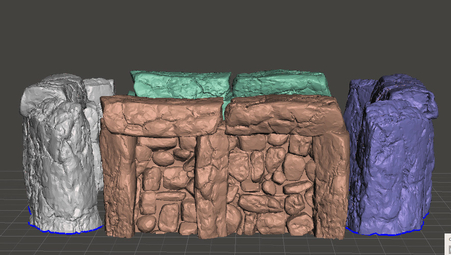 "Modular Outdoor Ruins for ""Stronghold on the Borderlands"" 3D Print 137112"