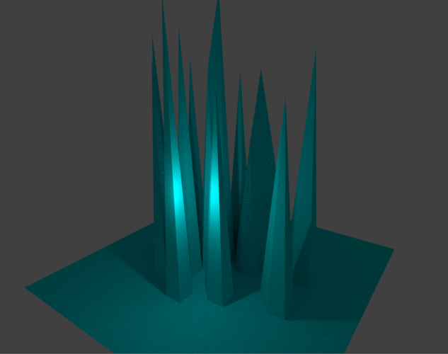 Ice spikes by Anonymous 3D Print 137121