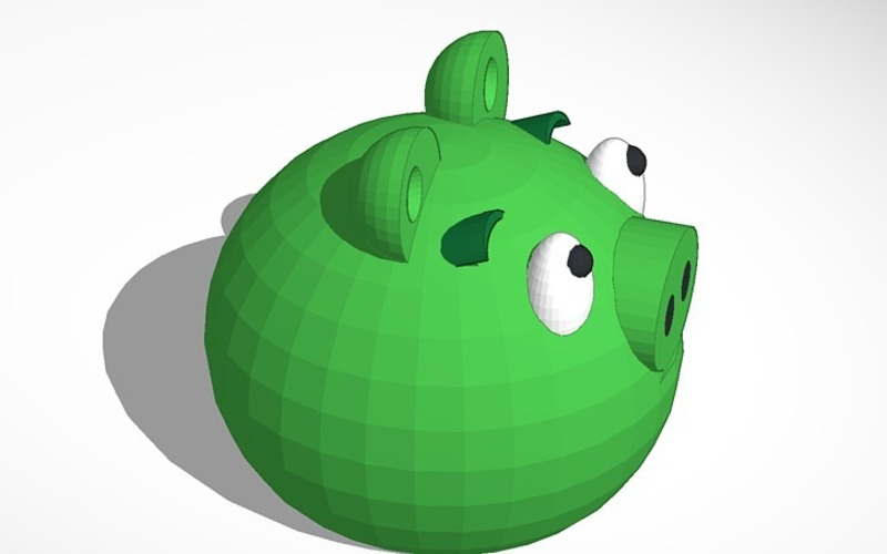 green piggy from angry birds 3D Print 13717