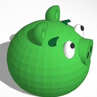 Small green piggy from angry birds 3D Printing 13717