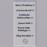 Small Multilingual Christmas Placca 3D Printing 137213
