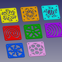 Small fan_cover_set 3D Printing 137285