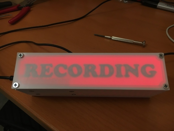 "WIFI Enabled ""Recording"" Sign 3D Print 137297"