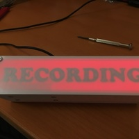 "Small WIFI Enabled ""Recording"" Sign 3D Printing 137297"