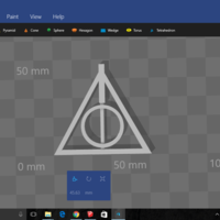 Small Deathly Hallows Pendant 3D Printing 137307