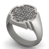 Small Celtic Cross Signet Ring 3D Printing 137321