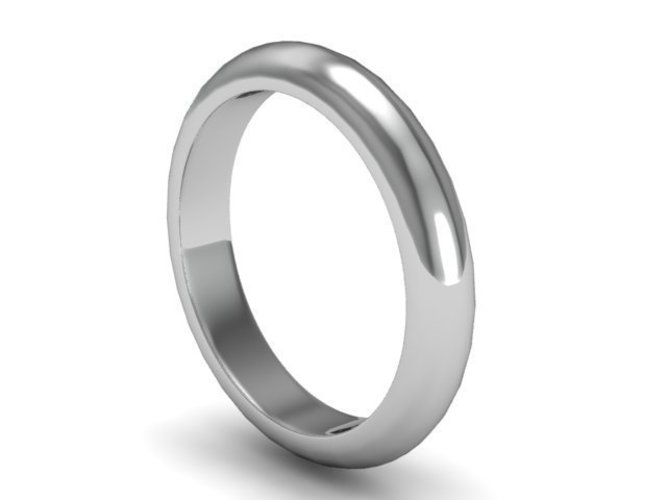 Plain Band Wedding Ring 3D Print 137328