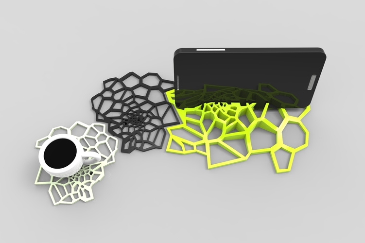 spider Coasters design 3D Print 137338