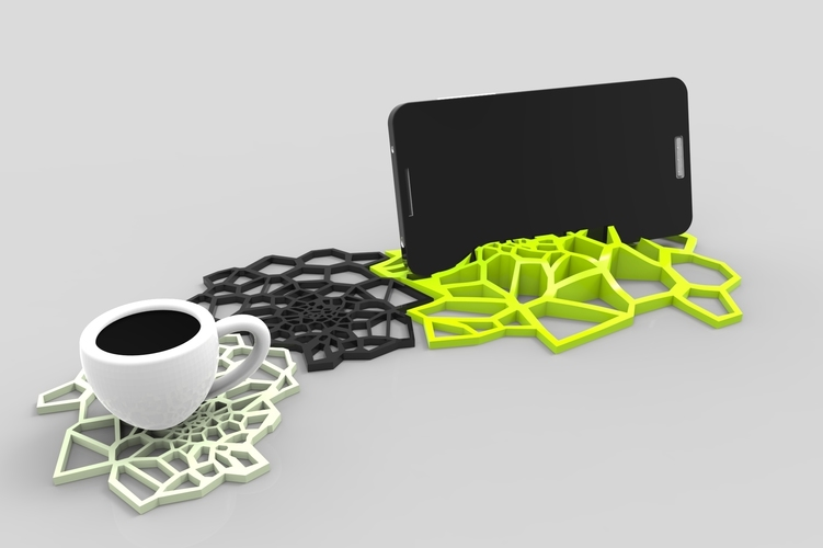 spider Coasters design 3D Print 137340