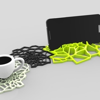 Small spider Coasters design 3D Printing 137340