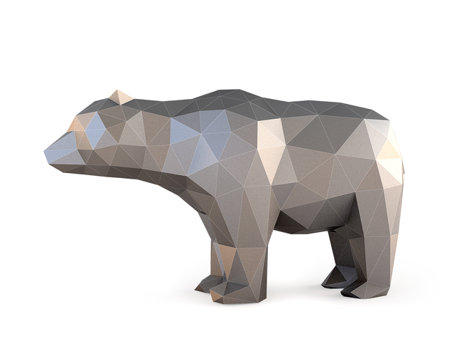 Low Poly Bear 3D Print 137398