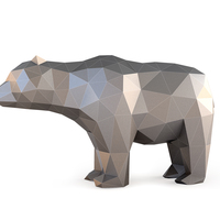 Small Low Poly Bear 3D Printing 137398