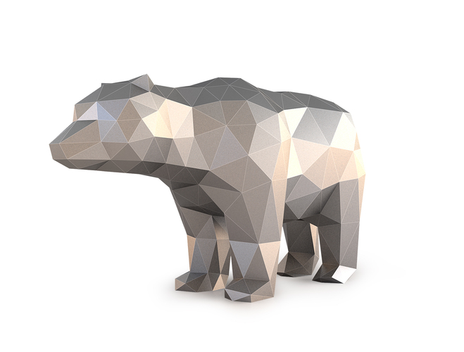 Low Poly Bear 3D Print 137399