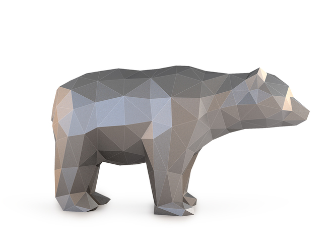 Low Poly Bear 3D Print 137401