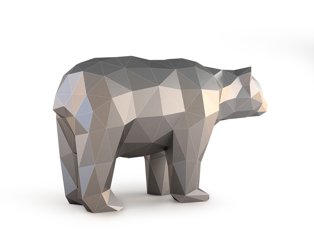 Low Poly Bear 3D Print 137402