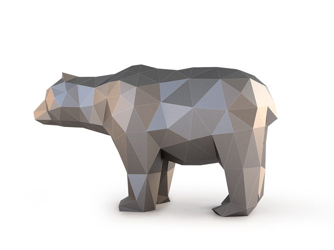 Low Poly Bear 3D Print 137403