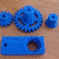 Small  Robust drive transfer for the TT engine. HEX12 wheel. 3D Printing 137481