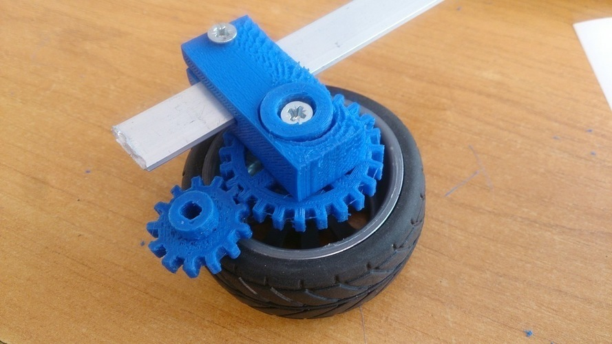 Robust drive transfer for the TT engine. HEX12 wheel. 3D Print 137482