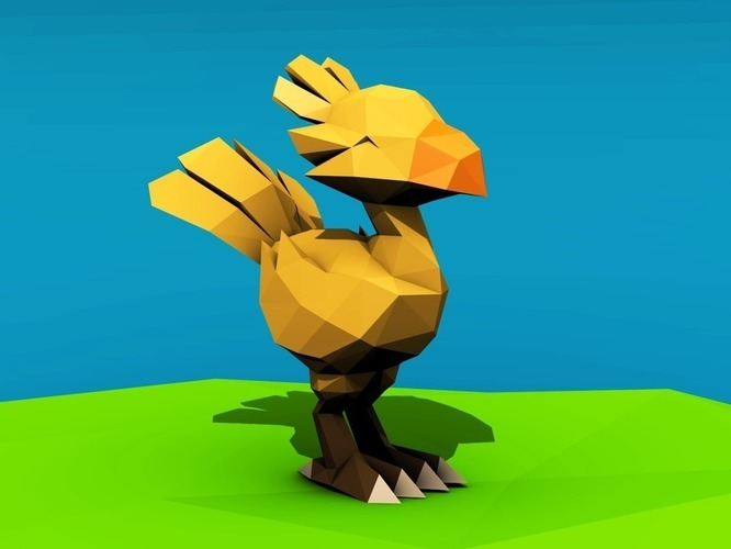 Low poly Chocobo 3D Print 137545