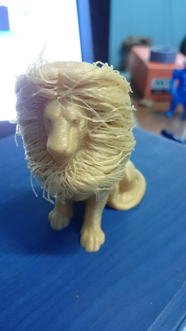Medium lion with hair 3D Printing 137584