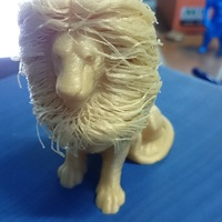 Small lion with hair 3D Printing 137584