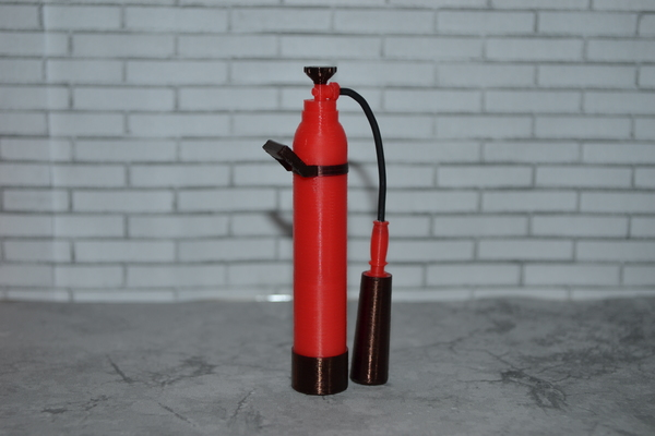 Medium Scale 1/10 fire extinguisher 3D Printing 137586